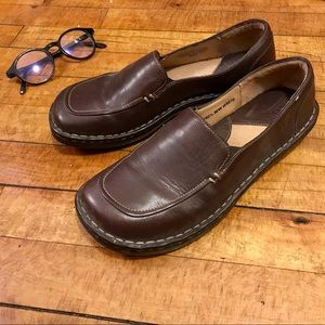 Born Leather Shoes Brown Comfy Slip On Loafers